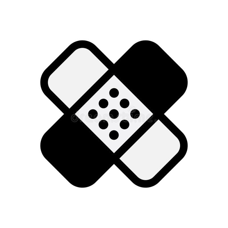 Icono del yeso o de la tirita Símbolo médico del remiendo libre illustration