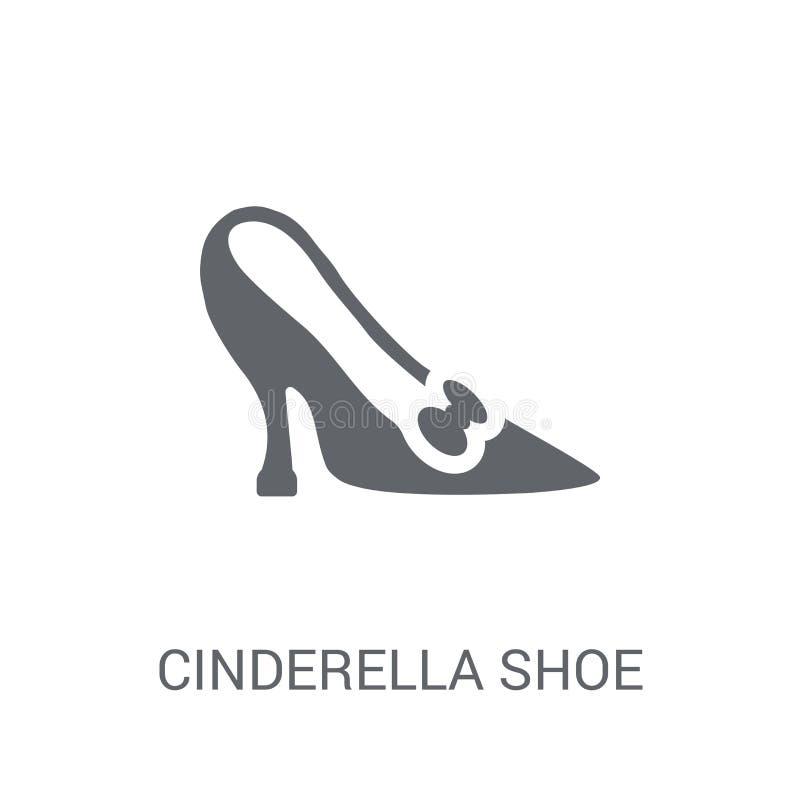 Icono del zapato de Cenicienta Concepto de moda del logotipo del zapato de Cenicienta en whi stock de ilustración