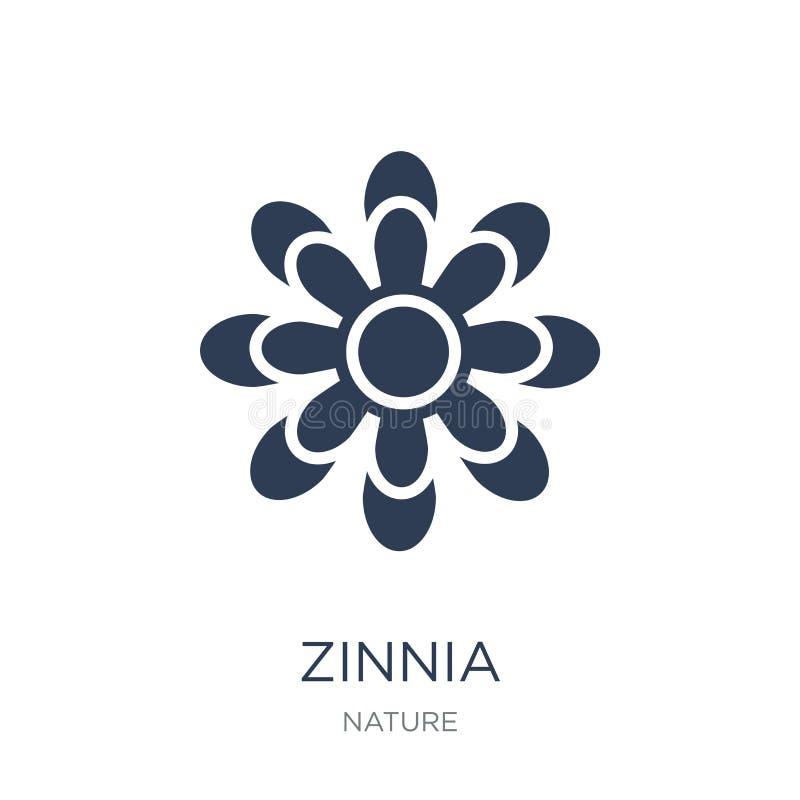 Icono del Zinnia Icono plano de moda del Zinnia del vector en el fondo blanco libre illustration