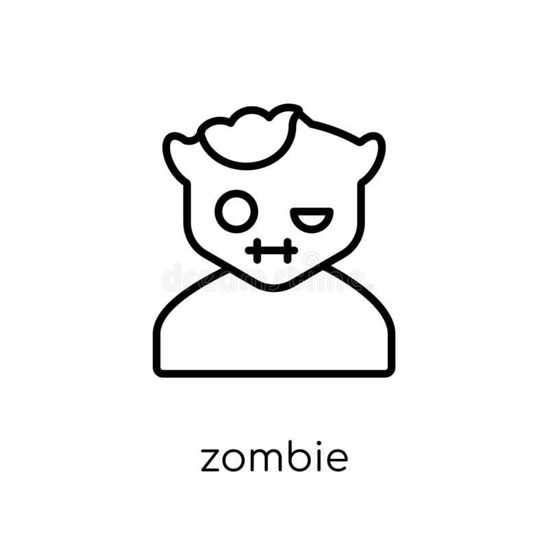 Icono del zombi  ilustración del vector