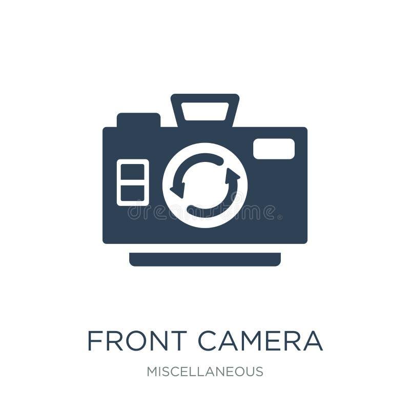 icono delantero de la cámara en estilo de moda del diseño icono delantero de la cámara aislado en el fondo blanco icono delantero libre illustration