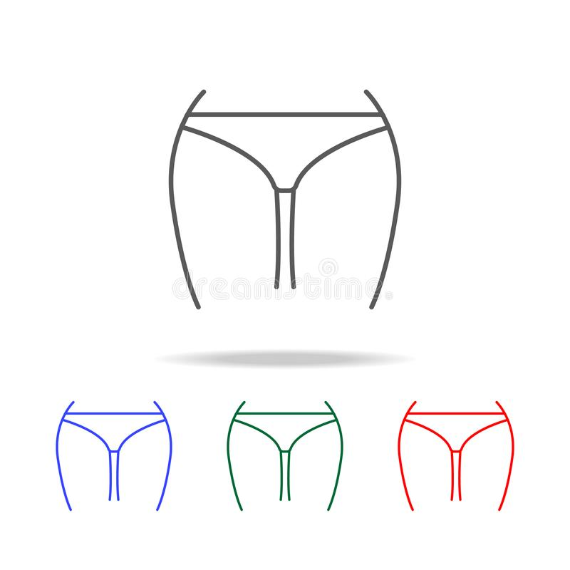 Icono delgado de la cintura Elementos de los iconos coloreados multi de las partes del cuerpo humanas Icono superior del diseño g libre illustration