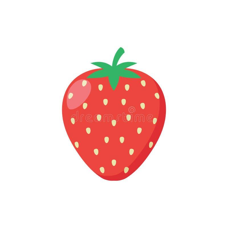 Icono delicioso de la fresa libre illustration