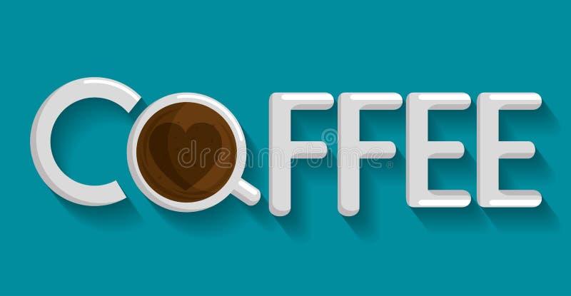 Icono delicioso de la taza de café stock de ilustración