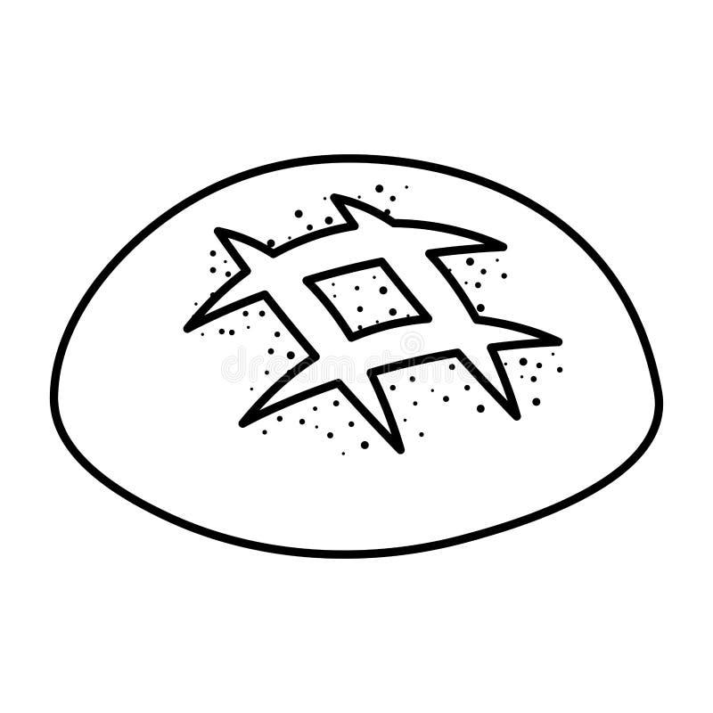 Icono delicioso de los pasteles del pan stock de ilustración