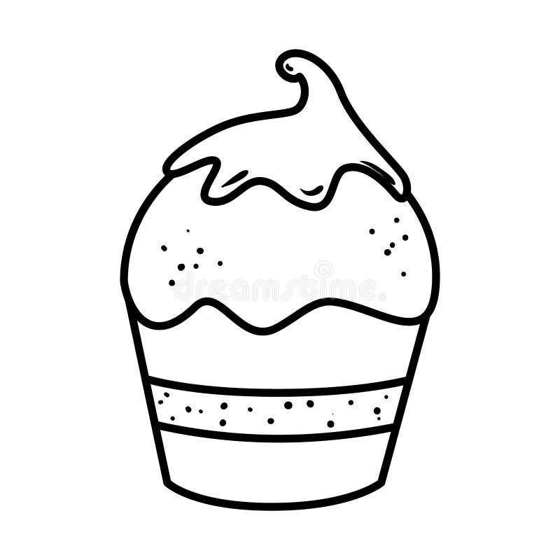 Icono delicioso del dulce de la magdalena libre illustration