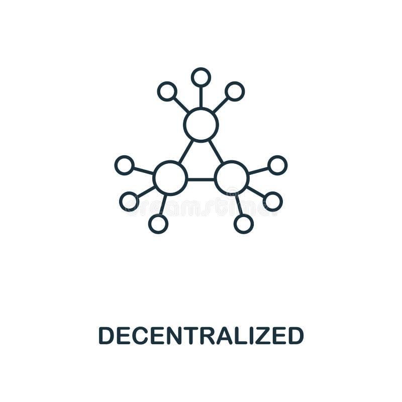 Icono descentralizado del esquema Diseño monocromático del estilo de la colección crypto del icono de la moneda Ui Simple perfect stock de ilustración
