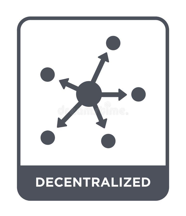 icono descentralizado en estilo de moda del diseño icono descentralizado aislado en el fondo blanco icono descentralizado del vec stock de ilustración