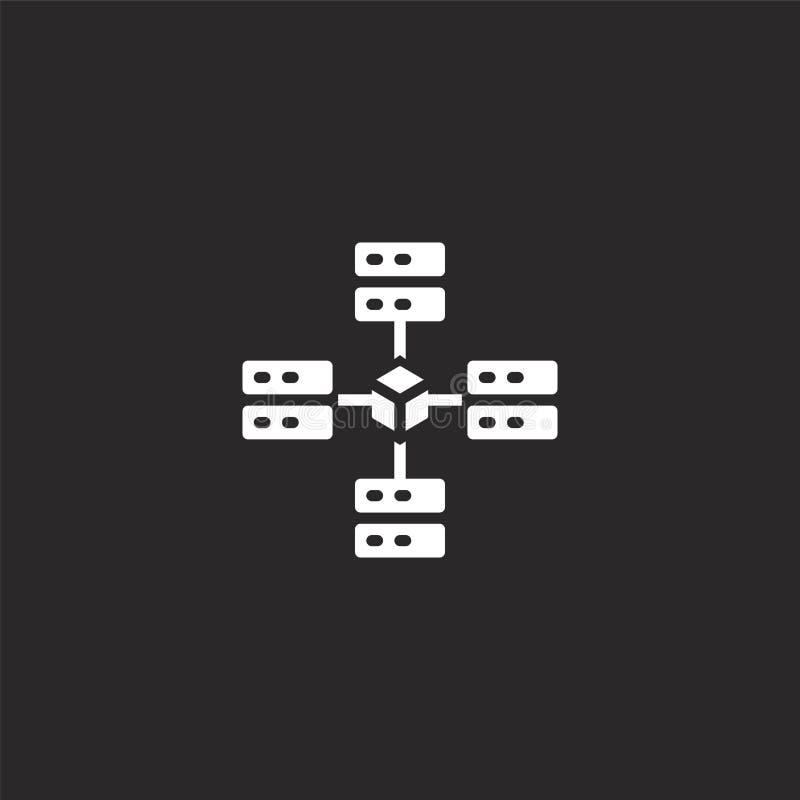Icono descentralizado Filled descentralizó el icono para el diseño y el móvil, desarrollo de la página web del app icono descentr ilustración del vector