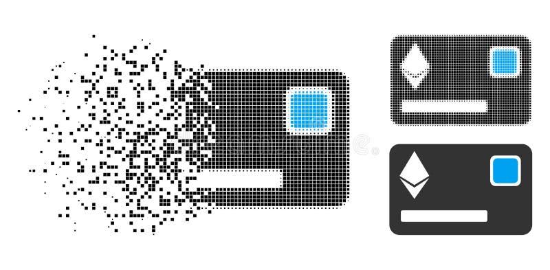 Icono Destructed de Dot Halftone Ethereum Credit Card libre illustration