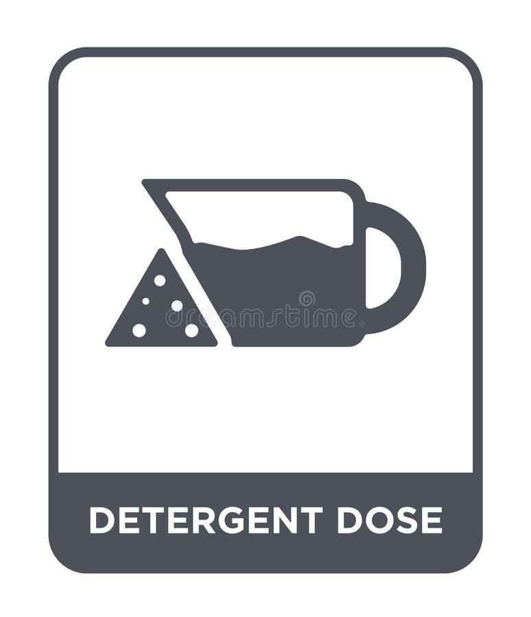 icono detergente de la dosis en estilo de moda del diseño icono detergente de la dosis aislado en el fondo blanco icono detergent libre illustration