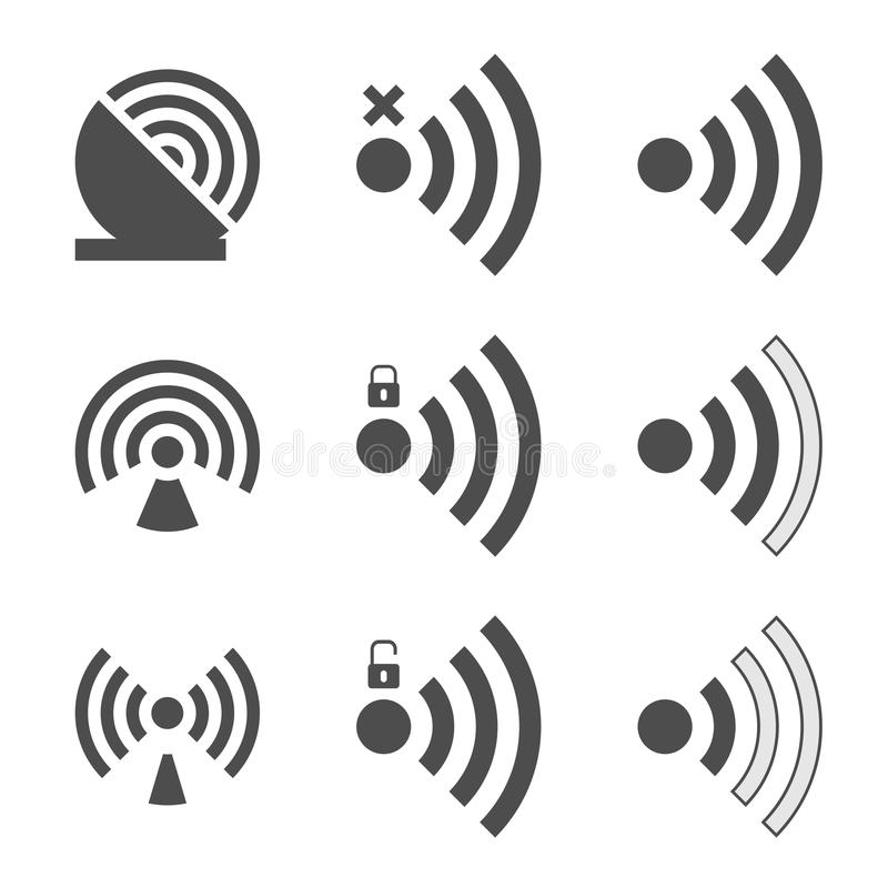 Icono determinado de Wifi stock de ilustración
