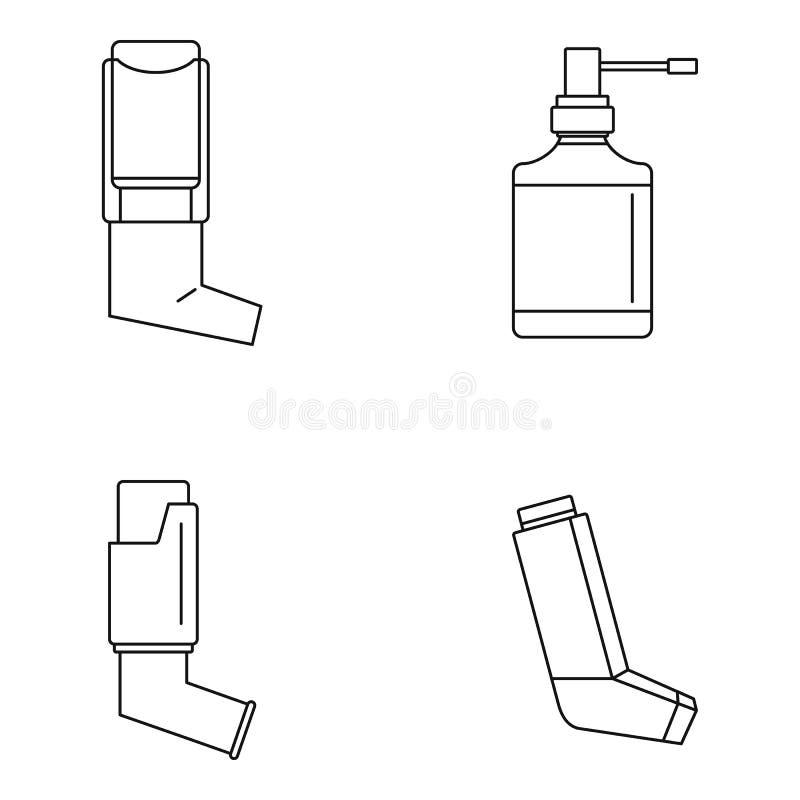 Icono determinado del inhalador, estilo del esquema libre illustration