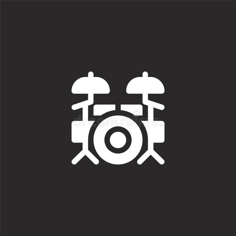 Icono determinado del tambor Icono llenado del sistema del tambor para el diseño y el móvil, desarrollo de la página web del app  libre illustration