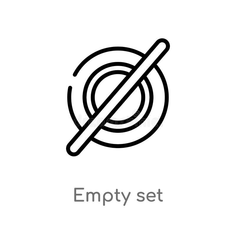 icono determinado vacío del vector del esquema línea simple negra aislada ejemplo del elemento del concepto de las muestras movim libre illustration