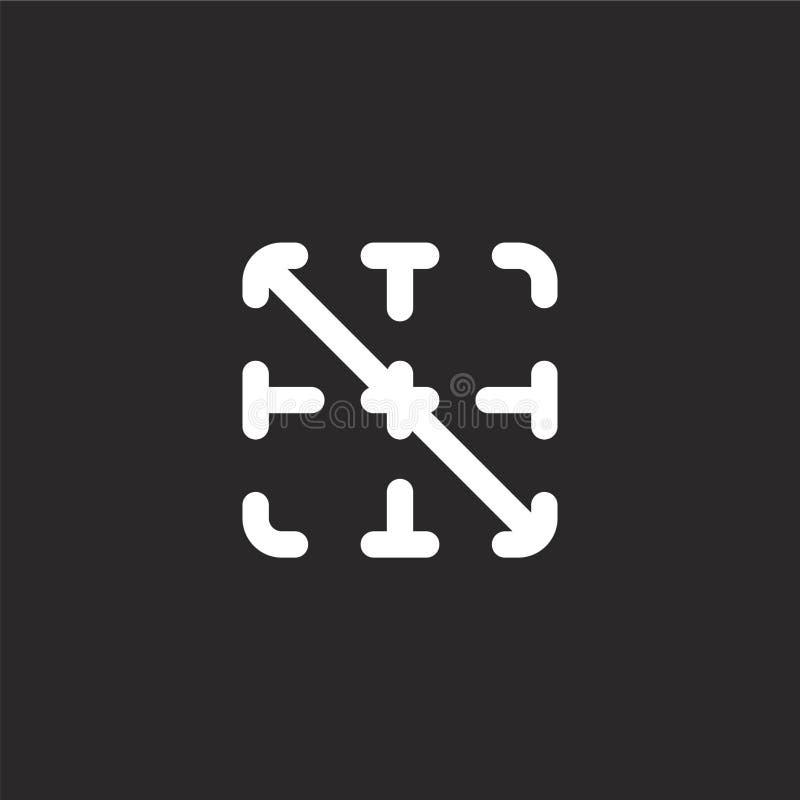icono diagonal Icono diagonal llenado para el diseño y el móvil, desarrollo de la página web del app icono diagonal de la colecci stock de ilustración