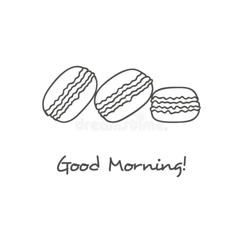 Icono dibujado mano de los macarons libre illustration