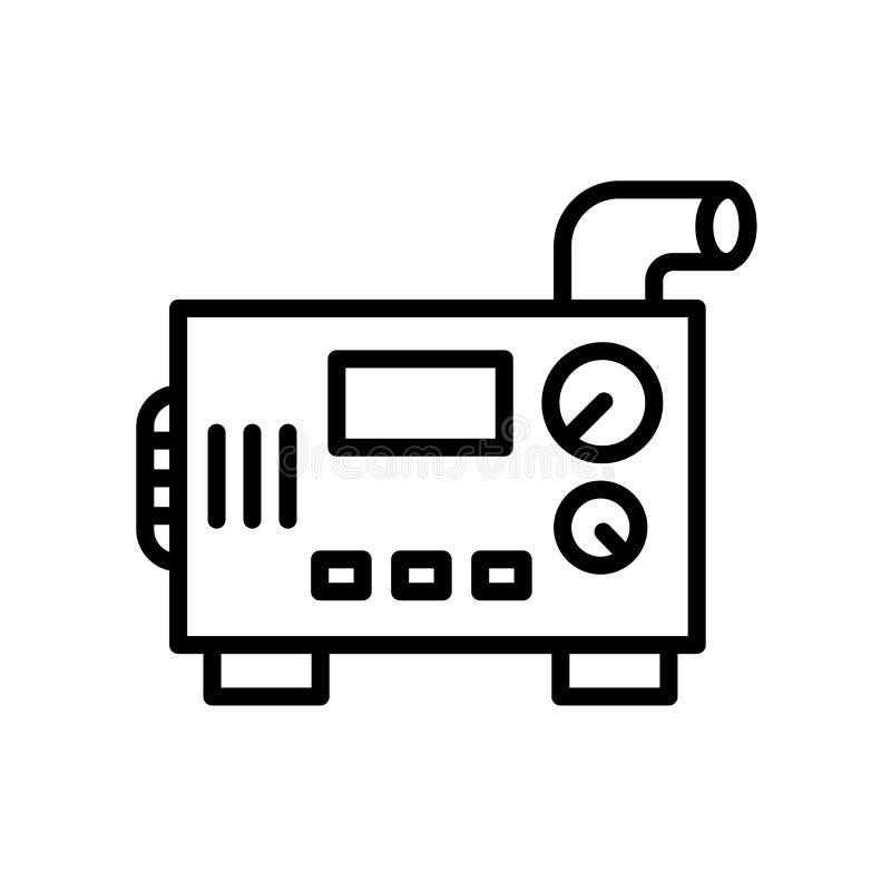 icono diesel del generador aislado en el fondo blanco libre illustration