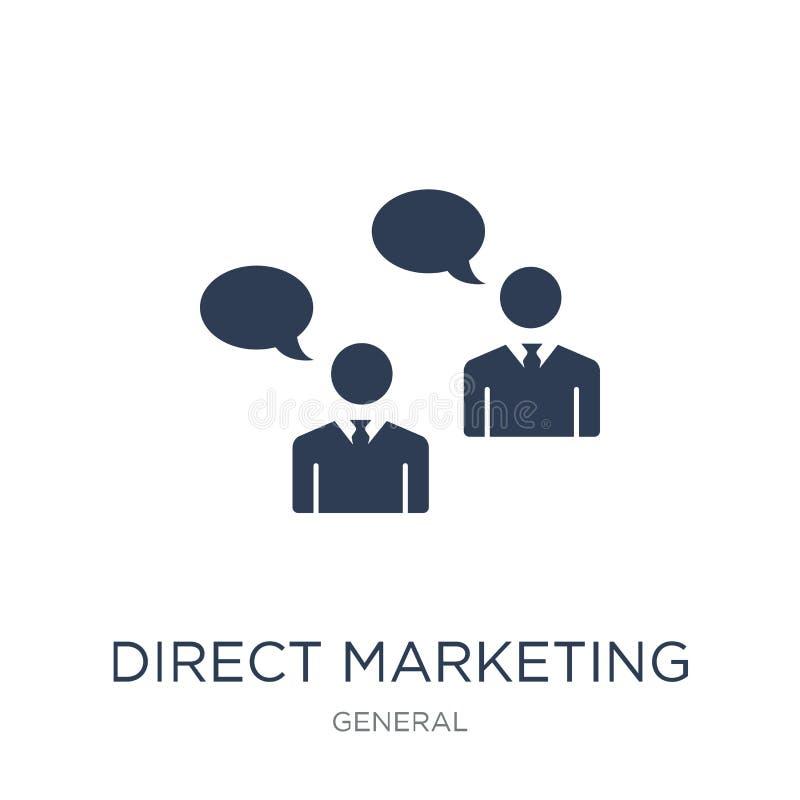 Icono directo del márketing Icono de comercialización directo del vector plano de moda libre illustration