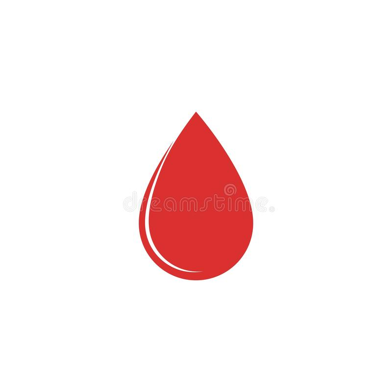 Icono dispensador de aceite del vector de la gota de sangre stock de ilustración