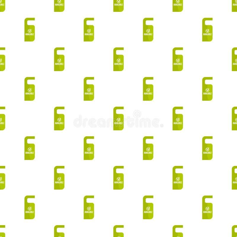 Icono disponible de la etiqueta de la suspensión de puerta, estilo plano libre illustration