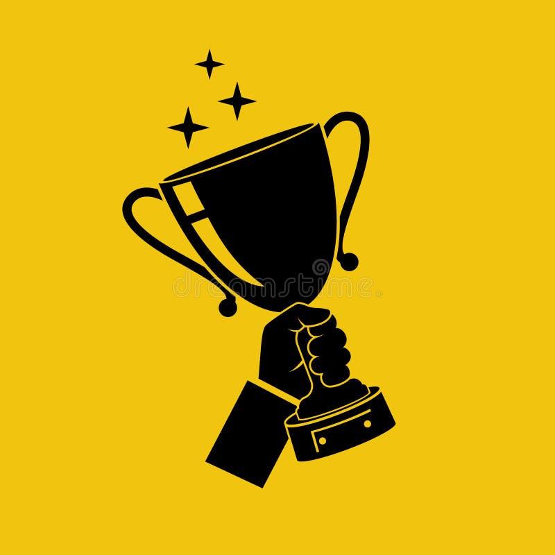 Icono disponible de la taza que gana stock de ilustración