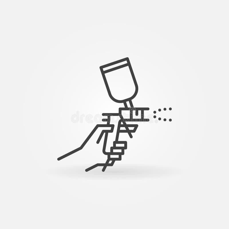 Icono disponible del arma de espray stock de ilustración