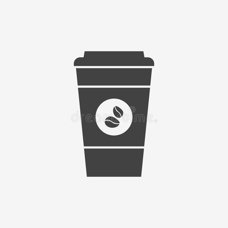 Icono disponible del monocromo de la taza de café ilustración del vector