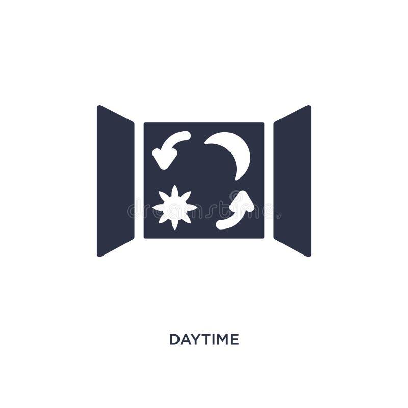 icono diurno en el fondo blanco Ejemplo simple del elemento del concepto del tiempo stock de ilustración