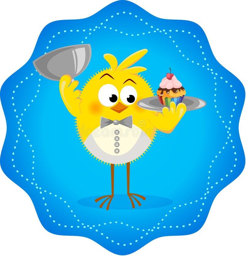 Icono divertido con el restaurante 2 de los pollos libre illustration