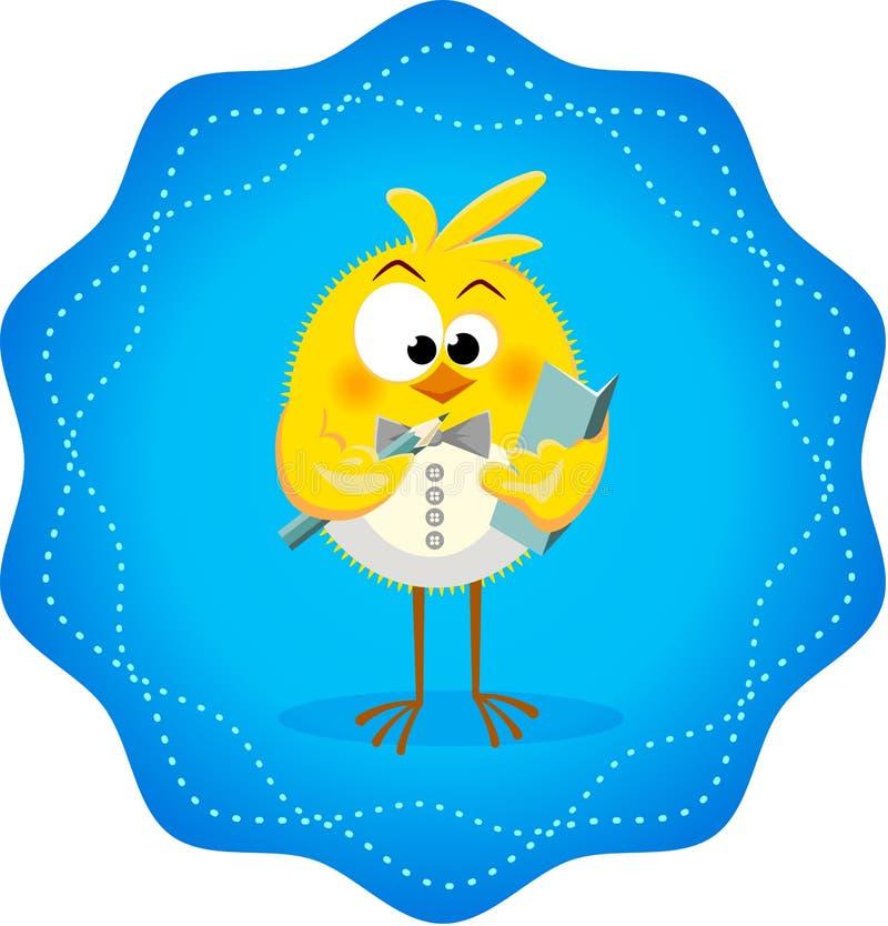 Icono divertido con el restaurante 4 de los pollos ilustración del vector