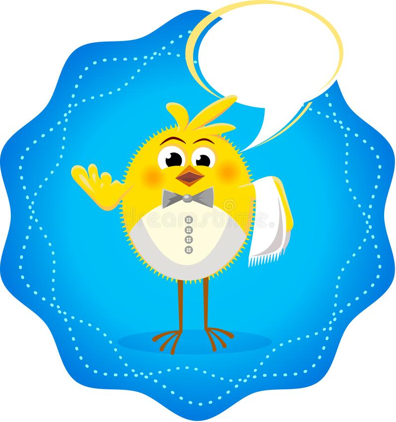 Icono divertido con el restaurante 3 de los pollos libre illustration