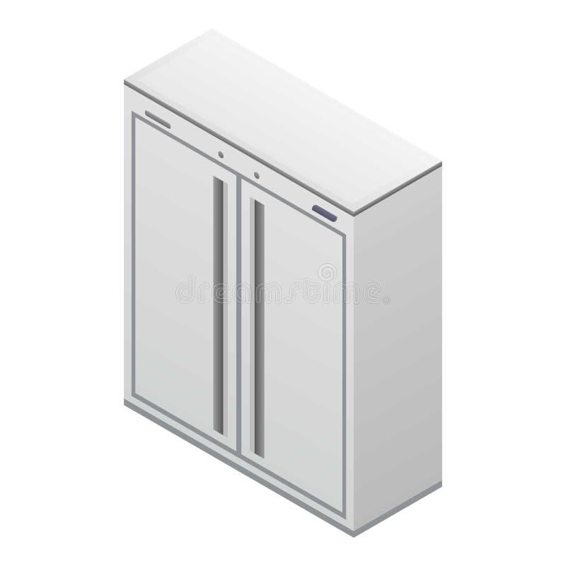 Icono doble casero del congelador, estilo isométrico libre illustration
