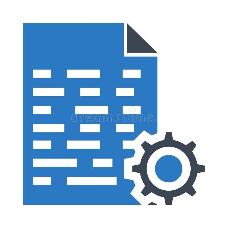 Icono doble del color de los glyphs del ajuste del fichero stock de ilustración