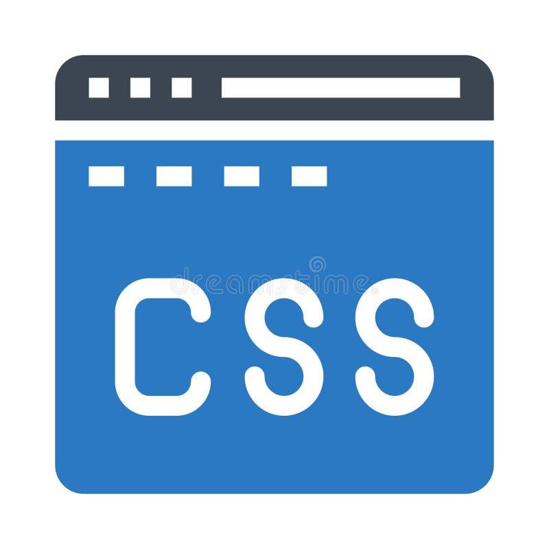 Icono doble del color de los glyphs del CSS ilustración del vector