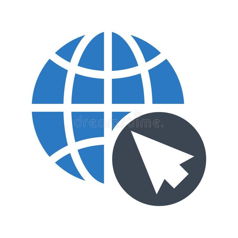 Icono doble del color de los glyphs globales del cursor stock de ilustración