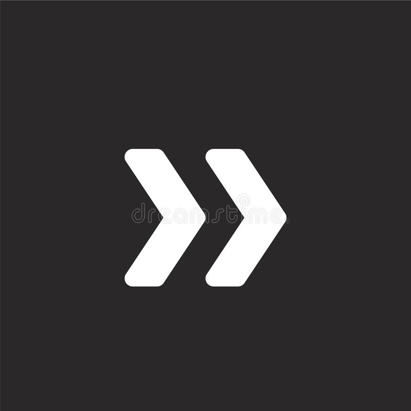 icono doble del galón Icono doble llenado del galón para el diseño y el móvil, desarrollo de la página web del app icono doble de libre illustration