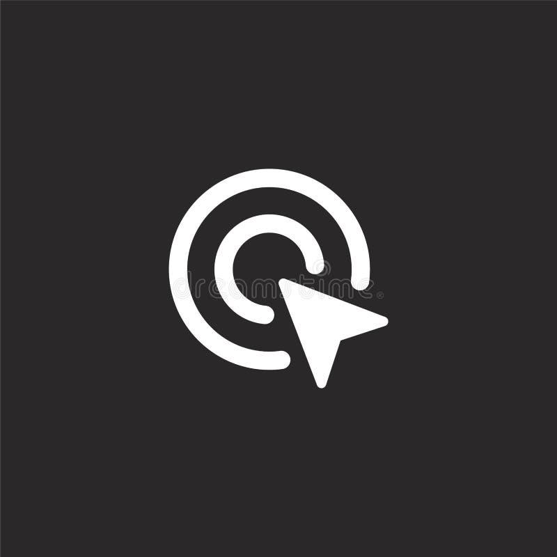 icono doble del tecleo Icono doble llenado del tecleo para el diseño y el móvil, desarrollo de la página web del app icono doble  stock de ilustración