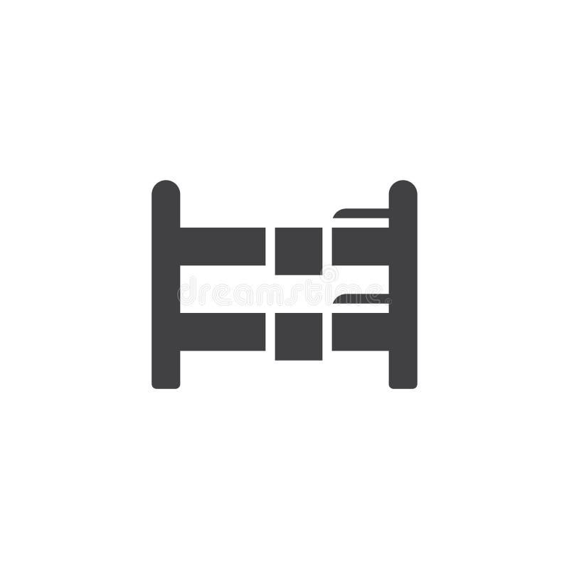 Icono doble del vector de la litera ilustración del vector