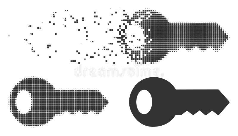 Icono dominante de semitono del pixel del polvo ilustración del vector