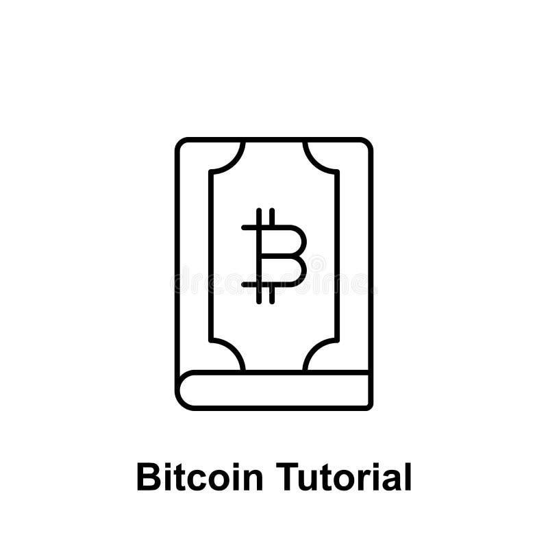 Icono dominante del esquema de Bitcoin Elemento de los iconos del ejemplo del bitcoin Las muestras y los símbolos se pueden utili libre illustration
