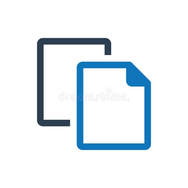 Icono duplicado del fichero ilustración del vector