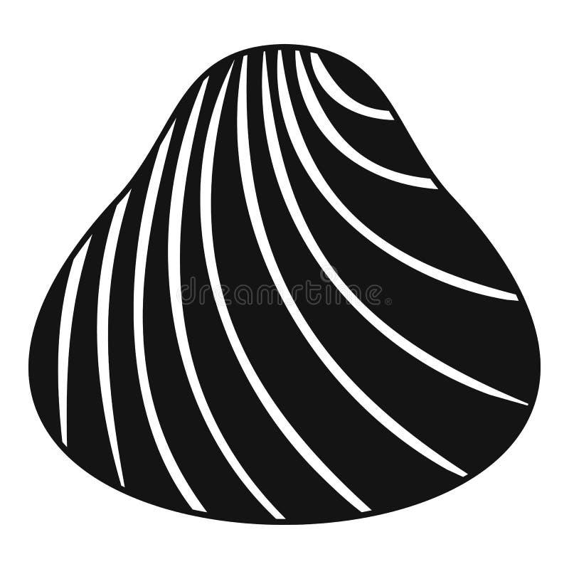 Icono duro de la cáscara, estilo simple stock de ilustración