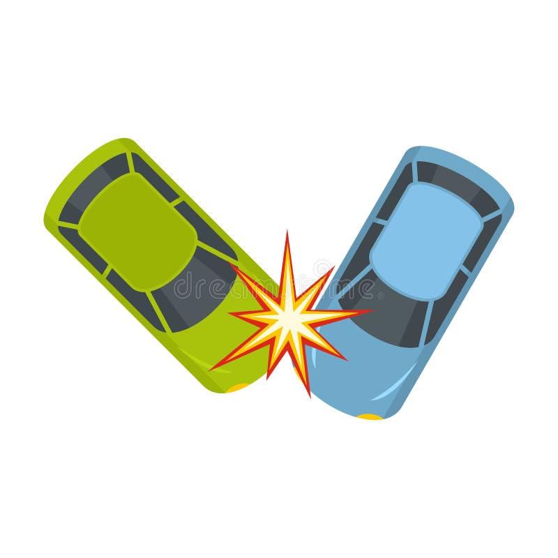 Icono duro de la colisión, estilo plano libre illustration
