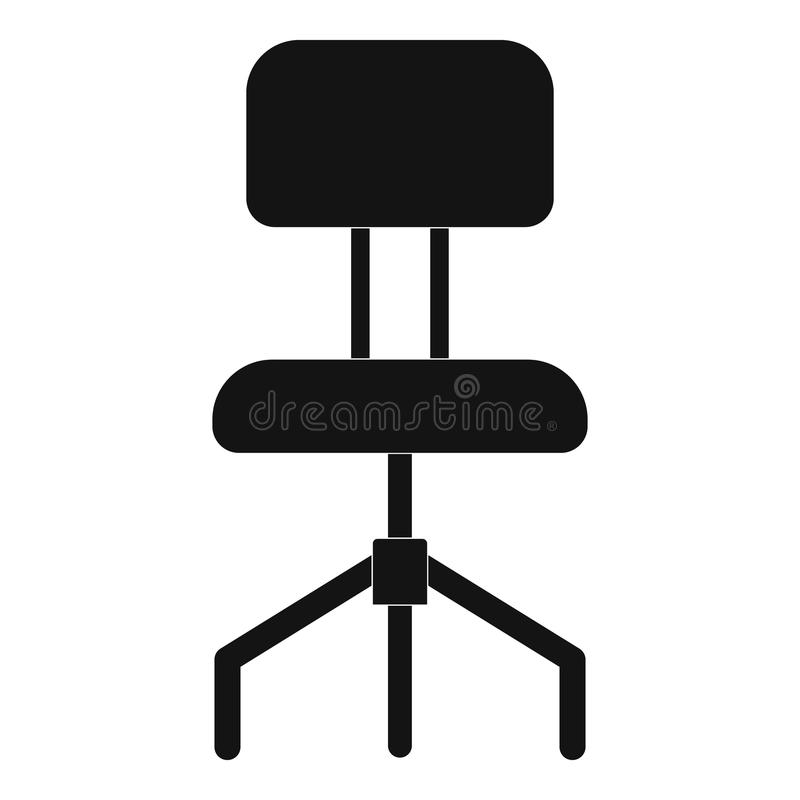 Icono duro de la silla, estilo simple libre illustration