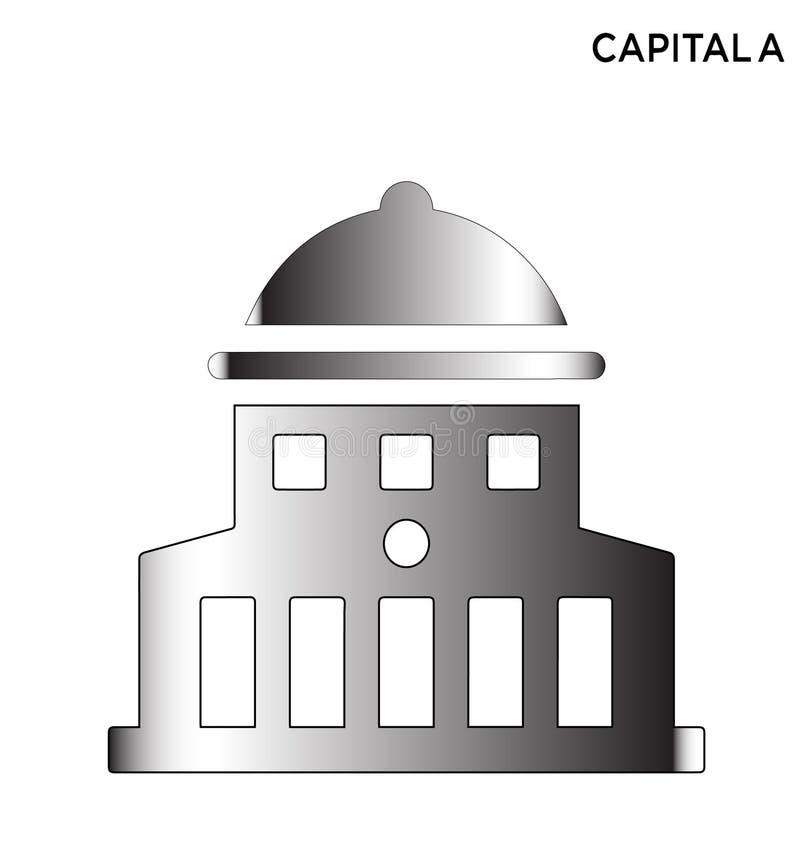 Icono editable constructivo capital de América ilustración del vector