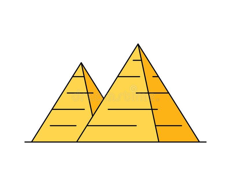 Icono egipcio de la pirámide Ilustración del vector libre illustration