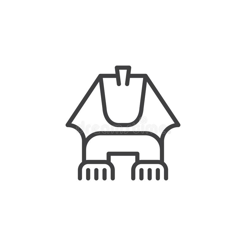 Icono egipcio del esquema de la esfinge stock de ilustración