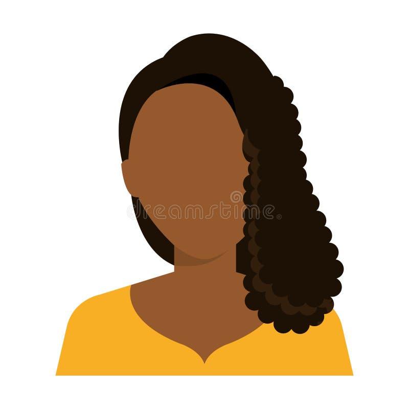 Icono ejecutivo joven del perfil de la mujer libre illustration