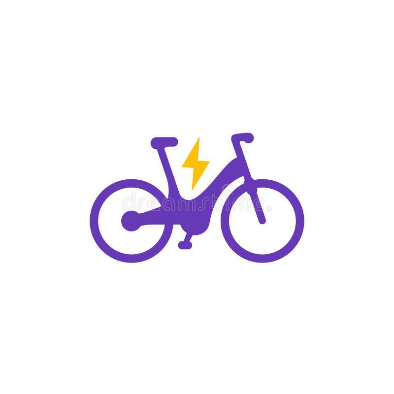 Icono eléctrico de la bici ilustración del vector